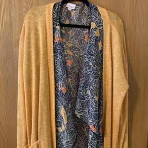 Kimono vest with long sweater